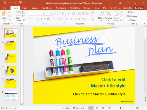 Ppt Business Plan Template Elegant Free Business Plan Powerpoint Template