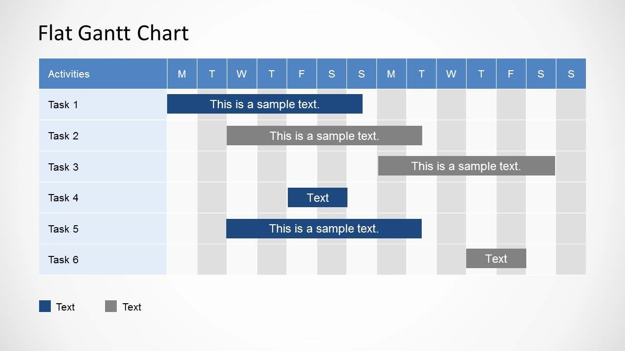 Ppt Gantt Chart Template Best Of Simple Gantt Chart Powerpoint Template Slidemodel