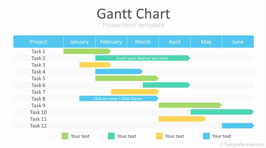 Ppt Gantt Chart Template Luxury Gantt Chart Powerpoint Template Templateswise