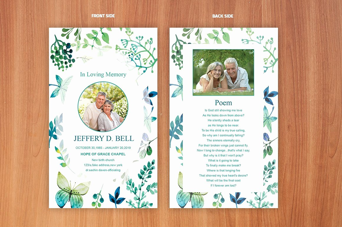 Prayer Card Template Free New Funeral Prayer Card Template Card Templates Creative