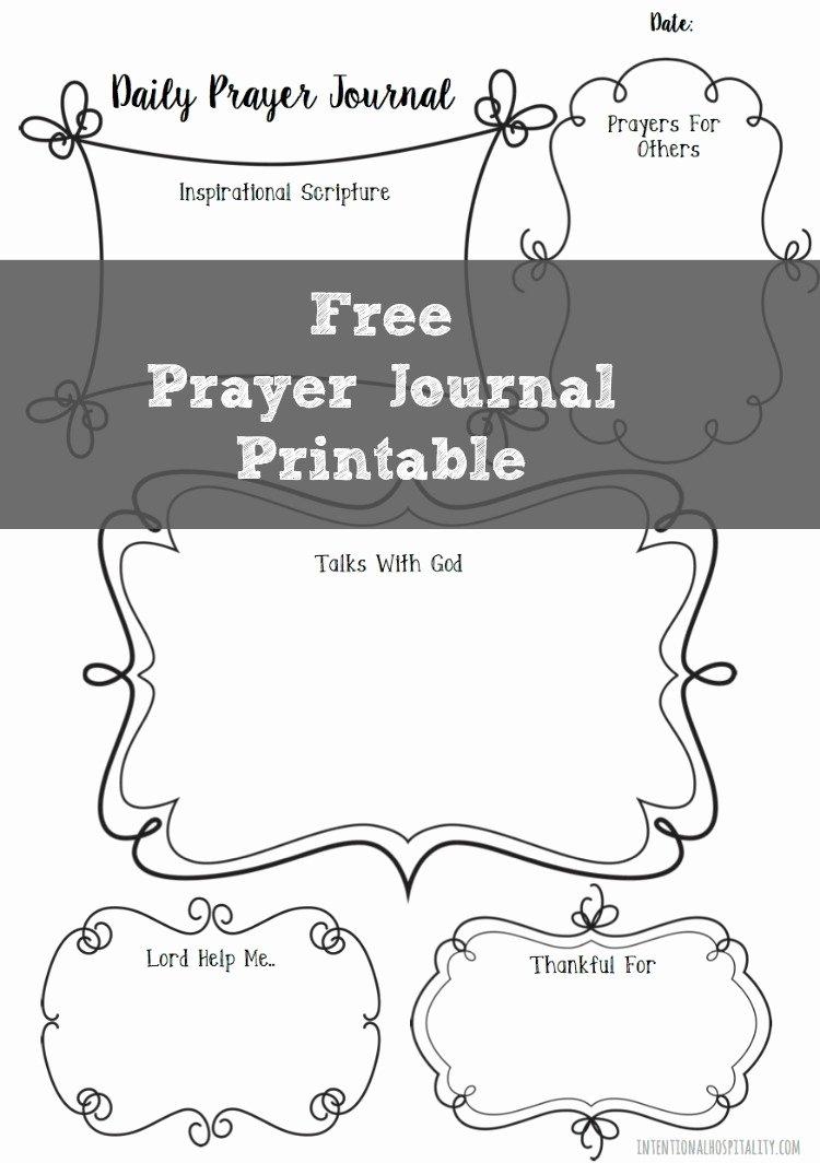 Prayer Journal Template Download Beautiful Free Prayer Journal Printable