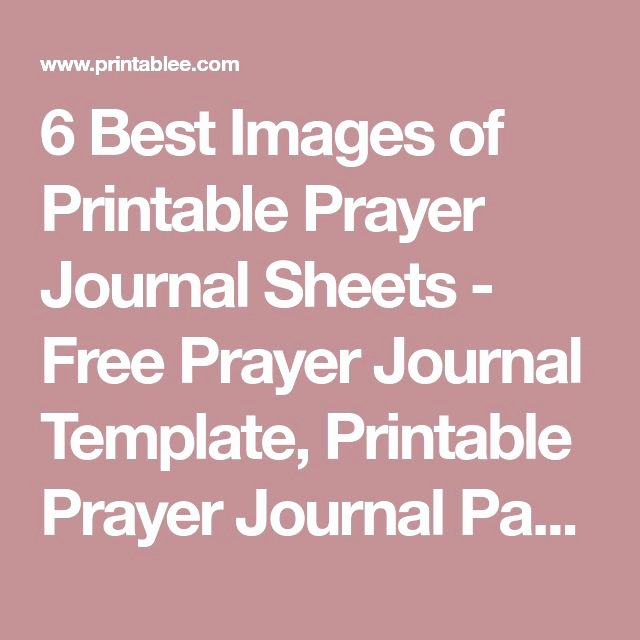 Prayer Journal Template Download Luxury Best 25 Prayer Journal Template Ideas On Pinterest