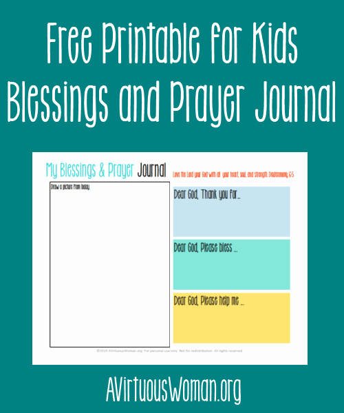 Prayer Journal Template Download Luxury Free Printable Blessings and Prayer Journal for Kids
