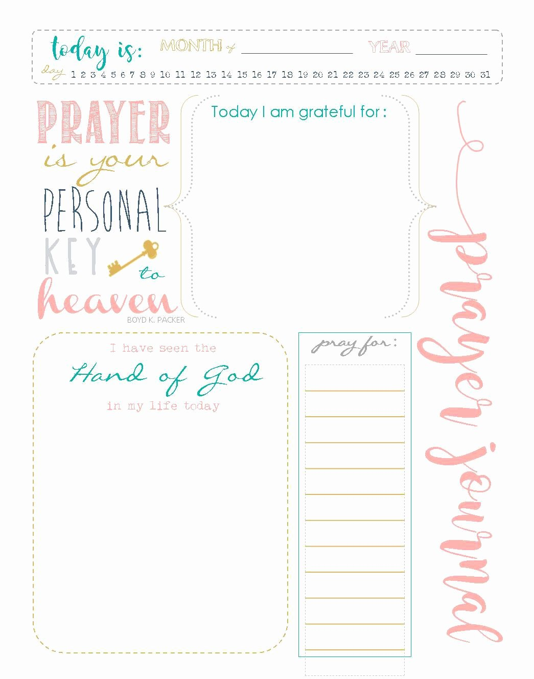 Prayer Journal Template Download Luxury Printable Prayer Journal Template