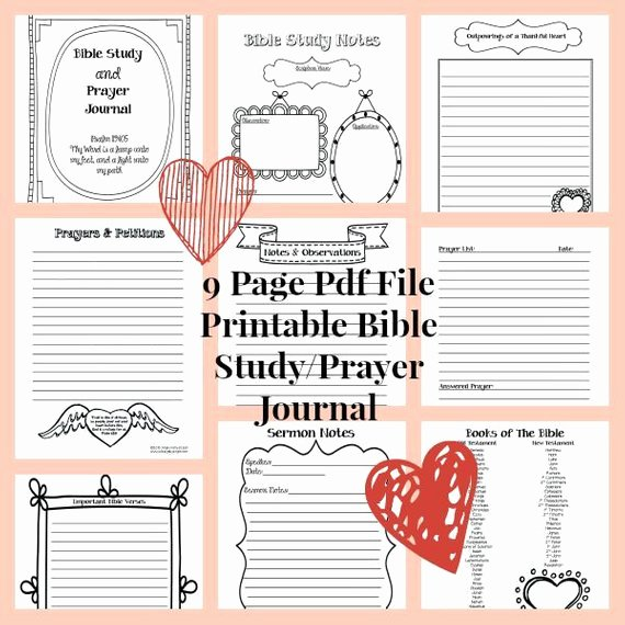 Prayer Journal Template Pdf Best Of Bible Study Printable Prayer Journal Bible Blank by
