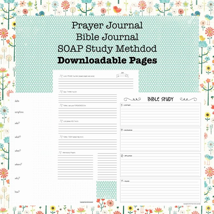 Prayer Journal Template Pdf Elegant Downloadable Bible Journal Prayer Journal and by