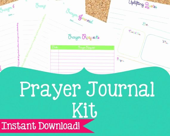 Prayer Journal Template Pdf Lovely Prayer Journal Kit Prayer Printables 6 Pdf Printable
