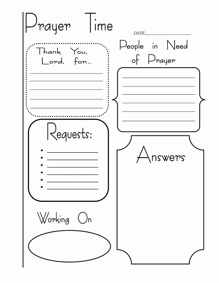 Prayer Journal Template Pdf Unique 42 Best Prayer Activities for Children S Ministry Images