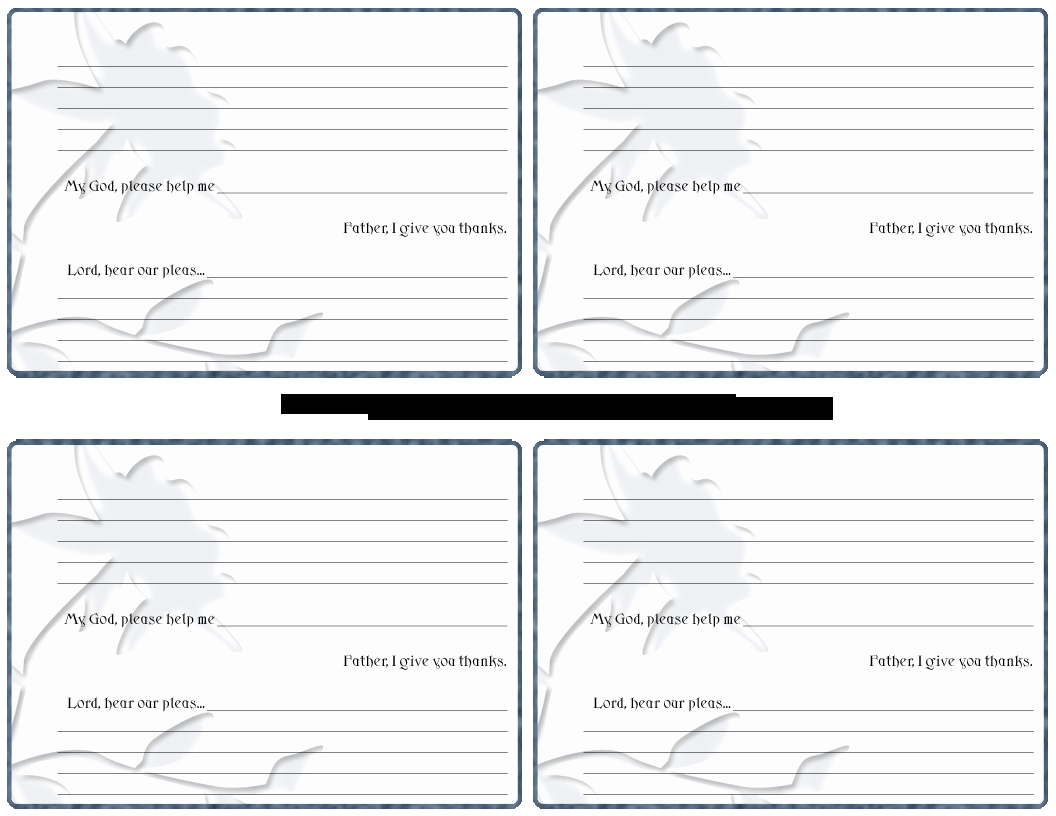 Prayer Request Card Template Awesome 7 Best Of Printable Prayer Request Template