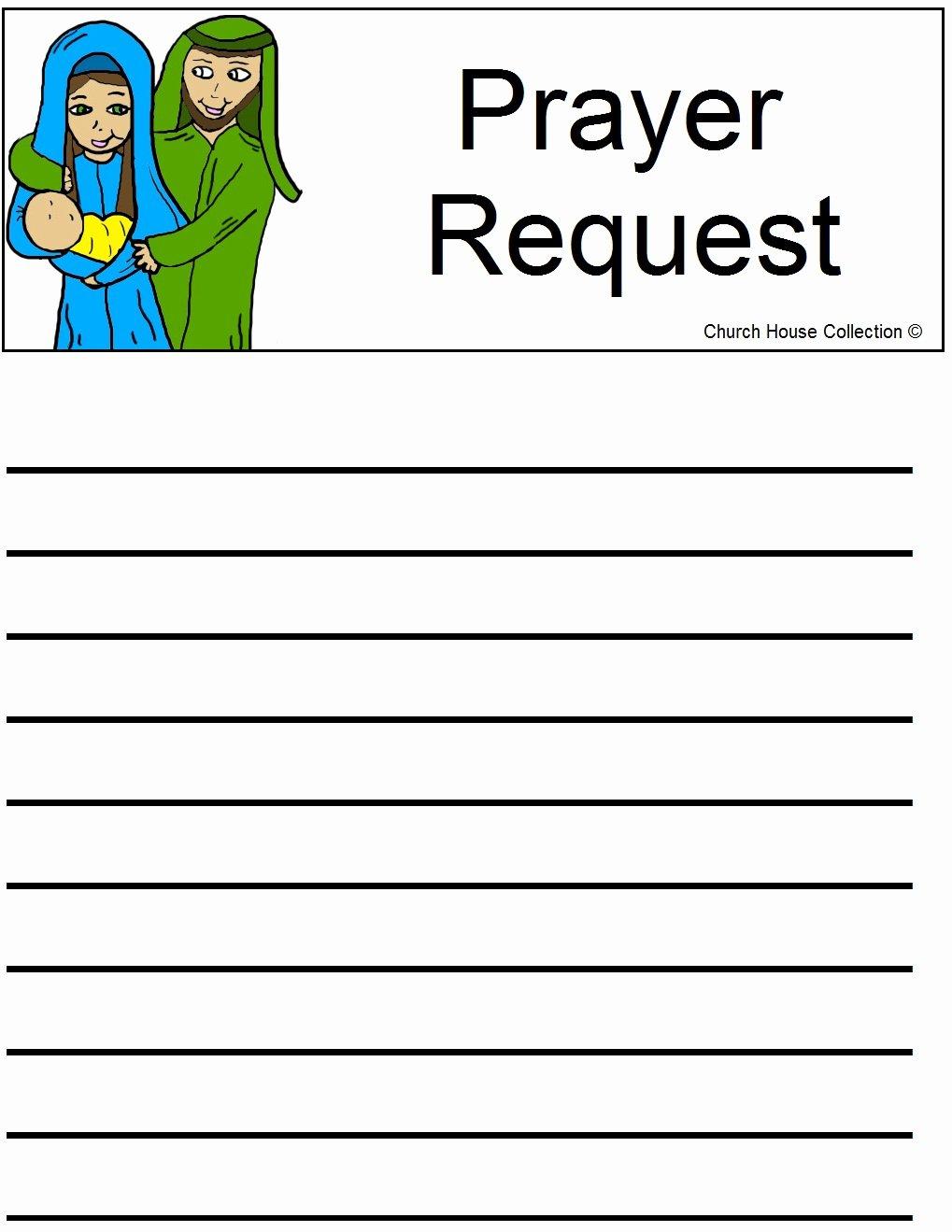 Prayer Request Card Template New Nativity Prayer Request Sheet
