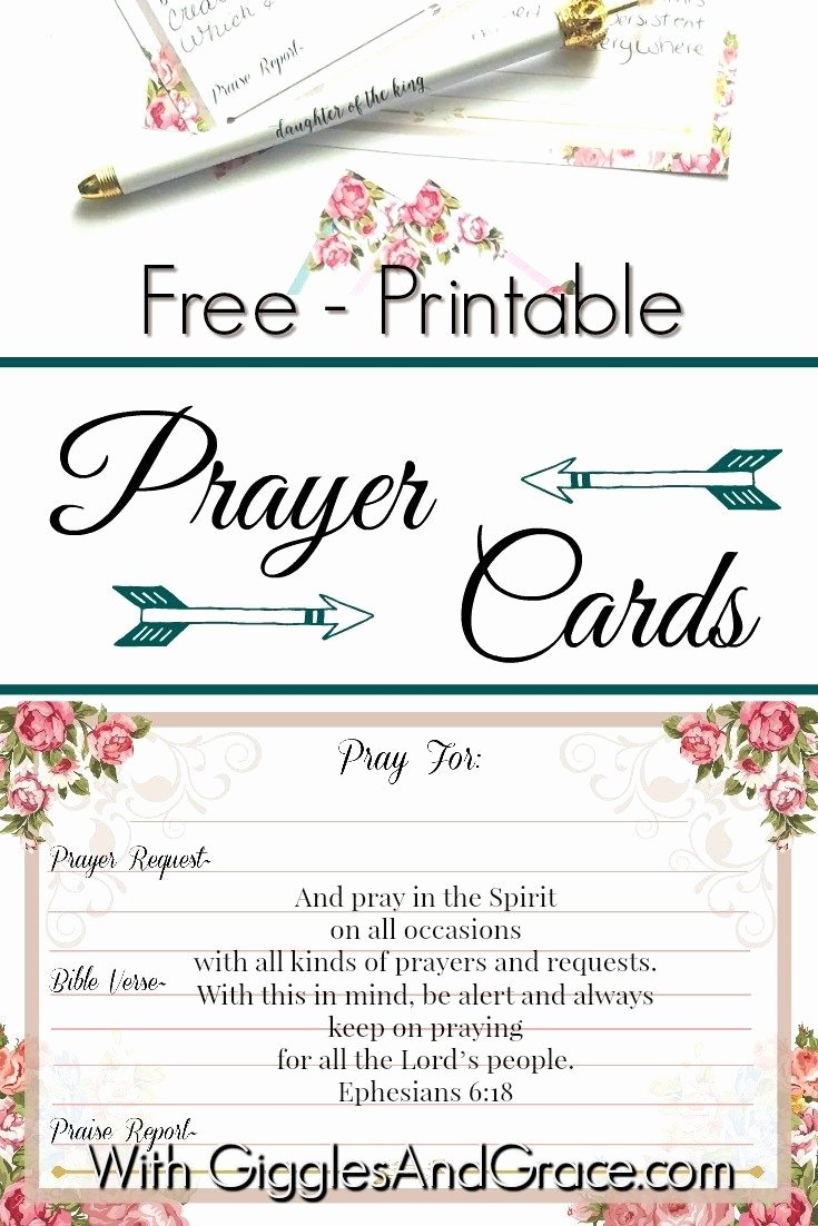 Prayer Request Cards Template Fresh 1397 Best Free Christian Printables Women & Families