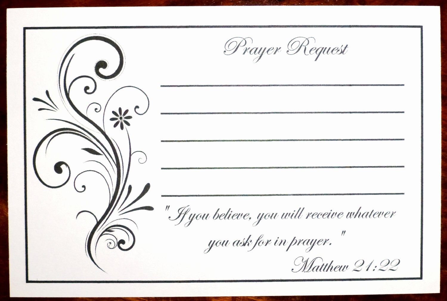 Prayer Request Cards Template Inspirational Pack Of 100 Prayer Request Cards