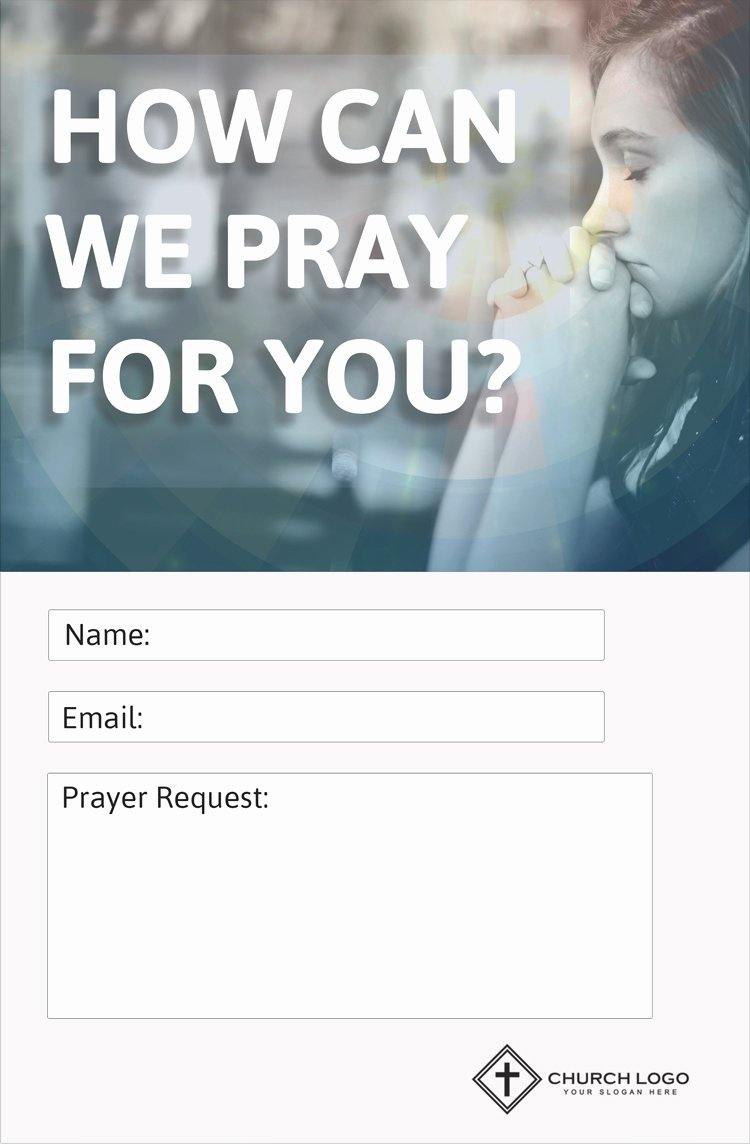 Prayer Request Cards Template Unique Modern Church Connection Cards 5 Free Templates