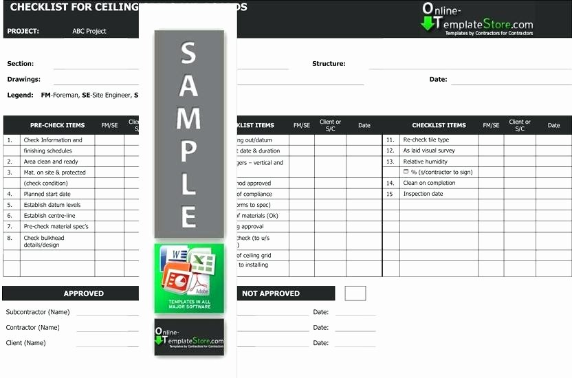 Pre Construction Checklist Template Lovely Table Responsibilities Responsibility Matrix for Design