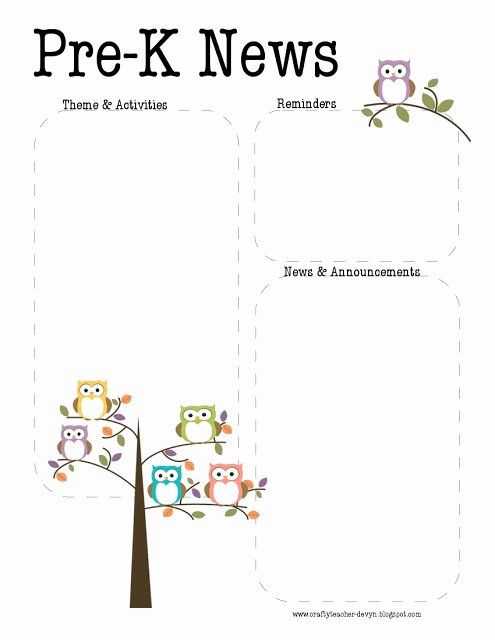 Pre K Newsletter Template Lovely 1000 Ideas About Teacher Newsletter Templates On