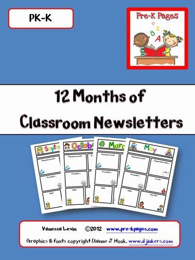 Pre K Newsletter Template Lovely Best S Of Printable Preschool Newsletters Free