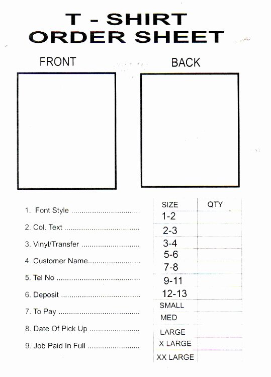 Pre order form Template Lovely 9 T Shirt Pre order form Template Woere