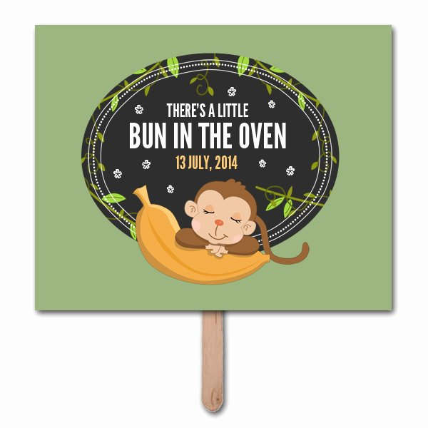 Pregnancy Announcement Template Free Beautiful Bun In Oven Pregnancy Announcement Prop Template