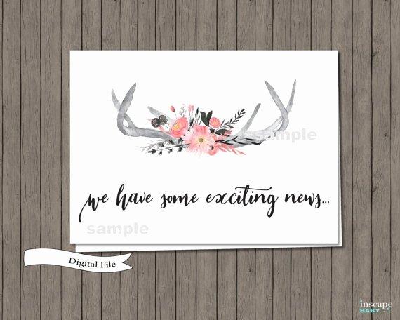 Pregnancy Announcement Template Free Elegant 14 Pregnancy Announcement Card Designs & Templates