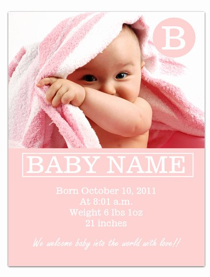 Pregnancy Announcement Template Free Lovely Free Printable Birth Announcements Templates