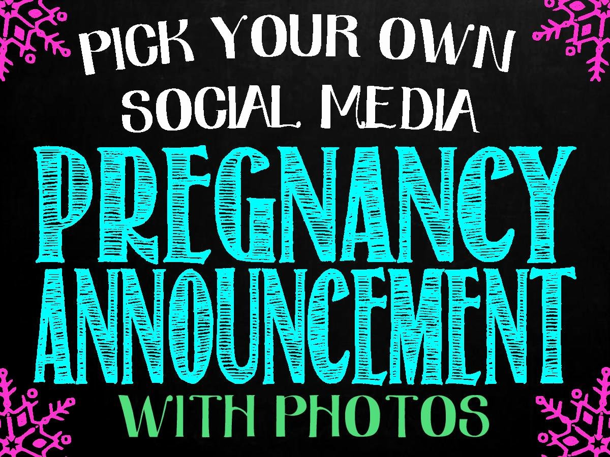 Pregnancy Announcement Template Free New Pregnancy Announcement for social Media