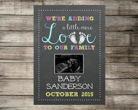 Pregnancy Announcement Template Free Unique Ultrasound Pregnancy Announcement Printable Baby Reveal