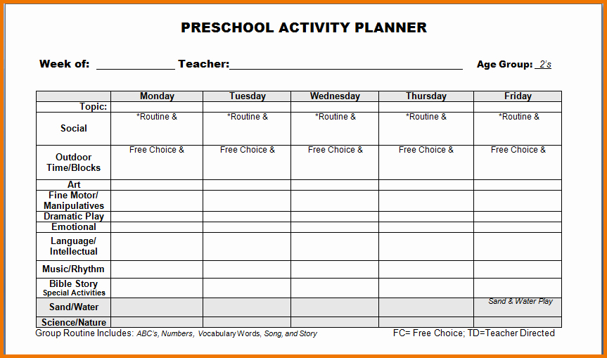 Prek Lesson Plan Template New Pre K Lesson Plan Templates
