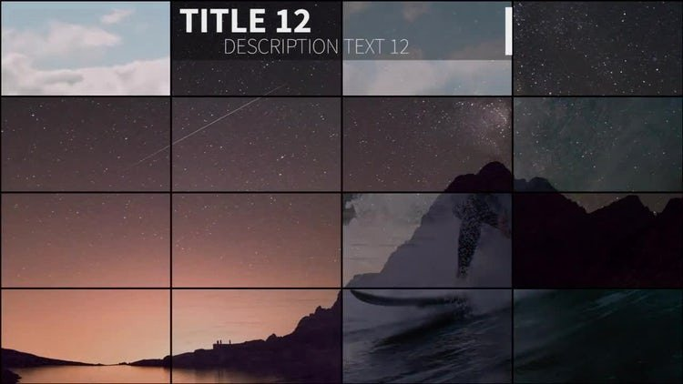 Premiere Pro Slideshow Template Fresh Grid Slideshow Premiere Pro Templates
