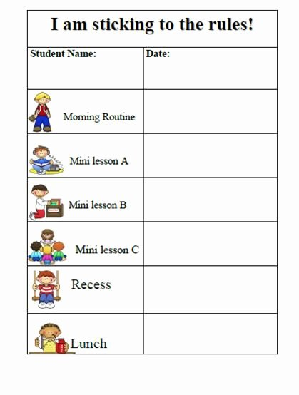 Preschool Behavior Plan Template Awesome 10 Best Of Behavior Charts for Preschoolers