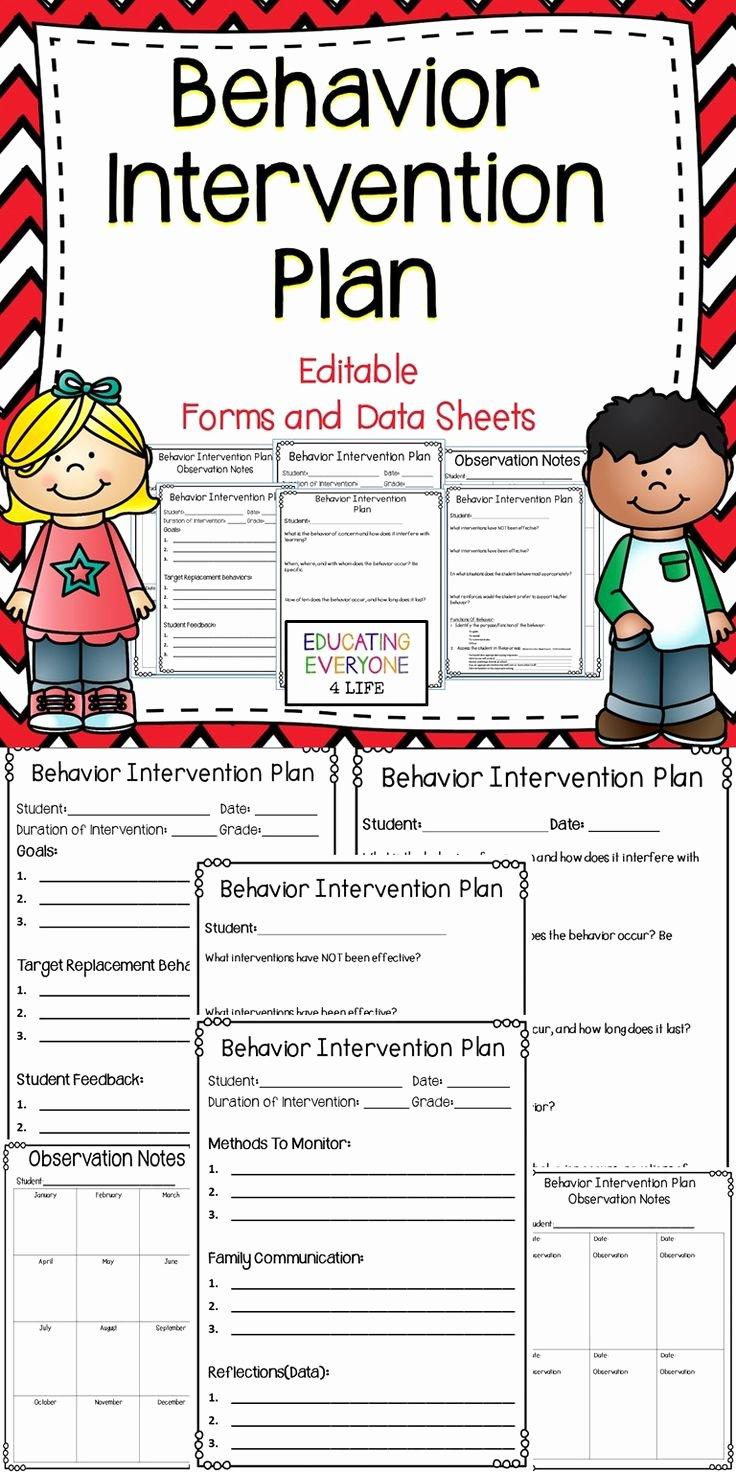 Preschool Behavior Plan Template Luxury 25 Best Ideas About Behavior Plans On Pinterest