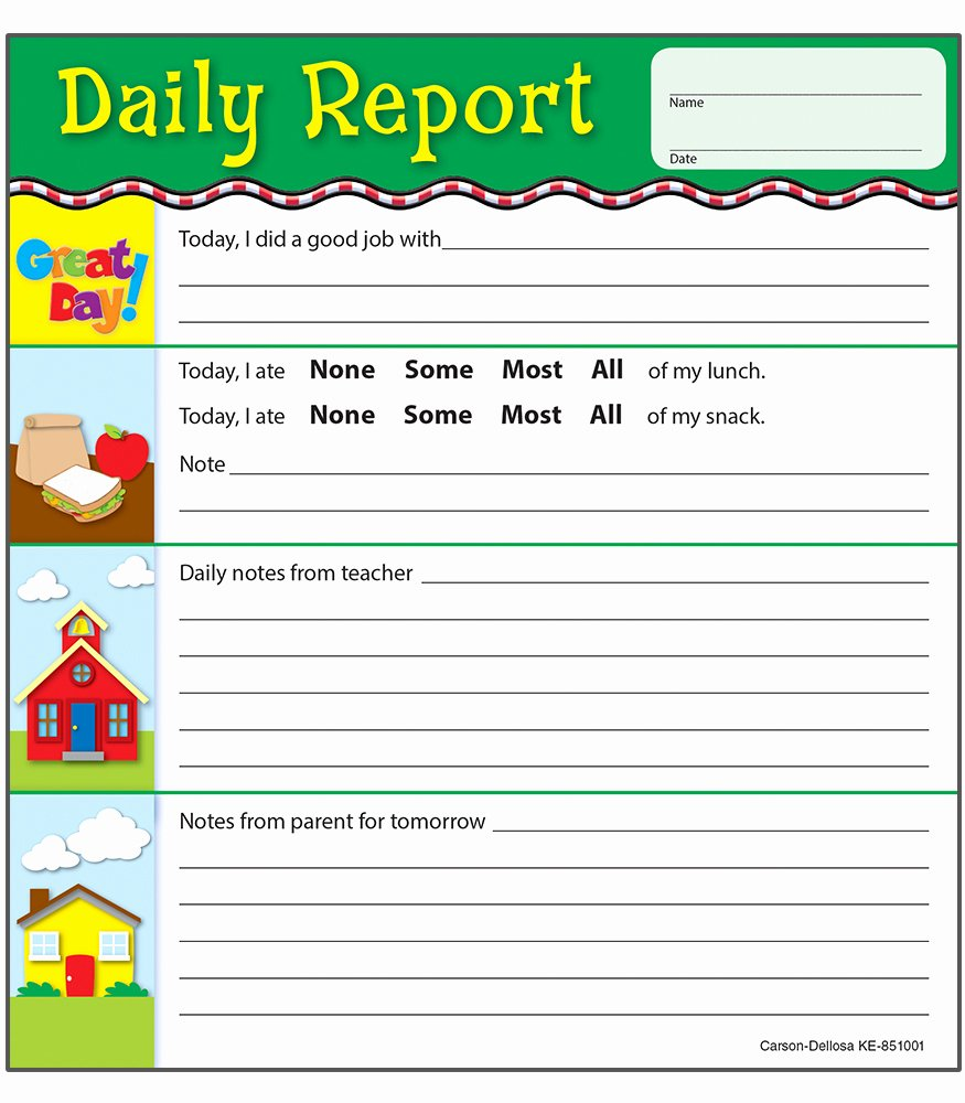 Preschool Daily Report Template Inspirational 9 Best Of Preschool Daily Sheets Printable