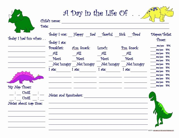 Preschool Daily Report Template New Preschool Daily Report for Parents