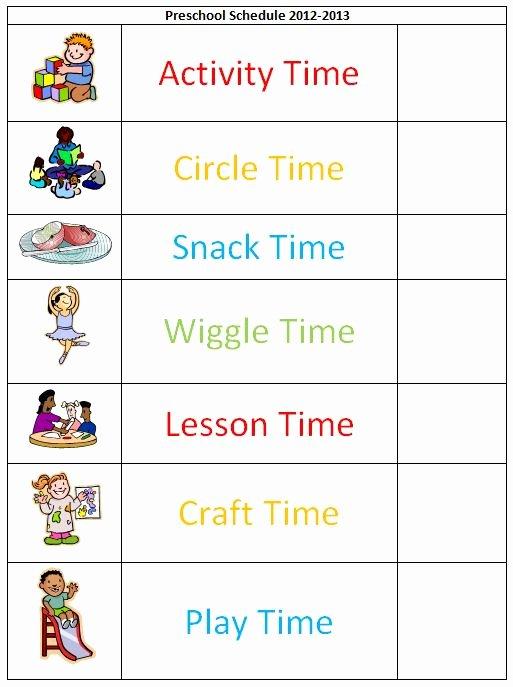 Preschool Daily Schedule Template Inspirational Preschool Schedule Template