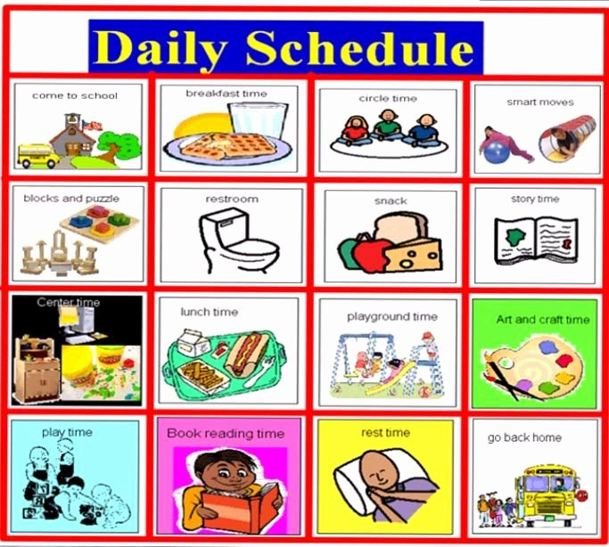 Preschool Daily Schedule Template Inspirational Reveal the Befit Of Scheduling software for Your Daycare