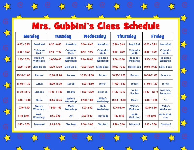Preschool Daily Schedule Template Lovely Aloha Kindergarten Daily Schedule Linky Party