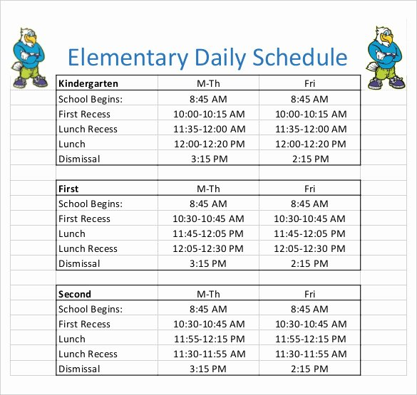 Preschool Daily Schedule Template Lovely Daily Schedule Template 37 Free Word Excel Pdf