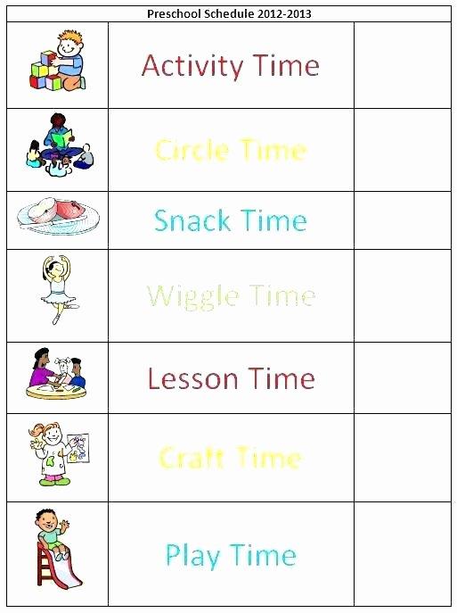 kindergarten celebration daily schedule preschool class template classroom floor plan schedules