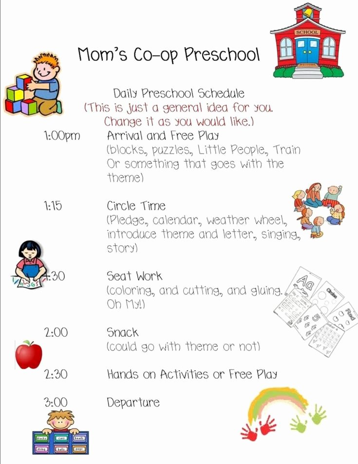 Preschool Daily Schedule Template Luxury Best 25 Daily Schedule Template Ideas On Pinterest