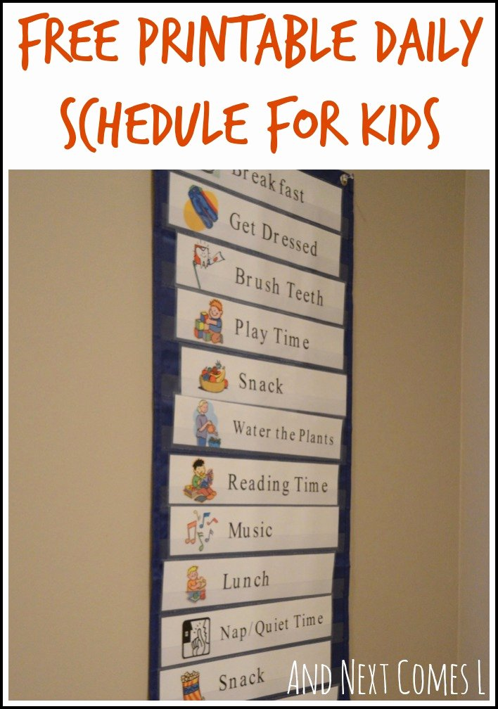 Preschool Daily Schedule Template Unique Free Printable Daily Visual Schedule
