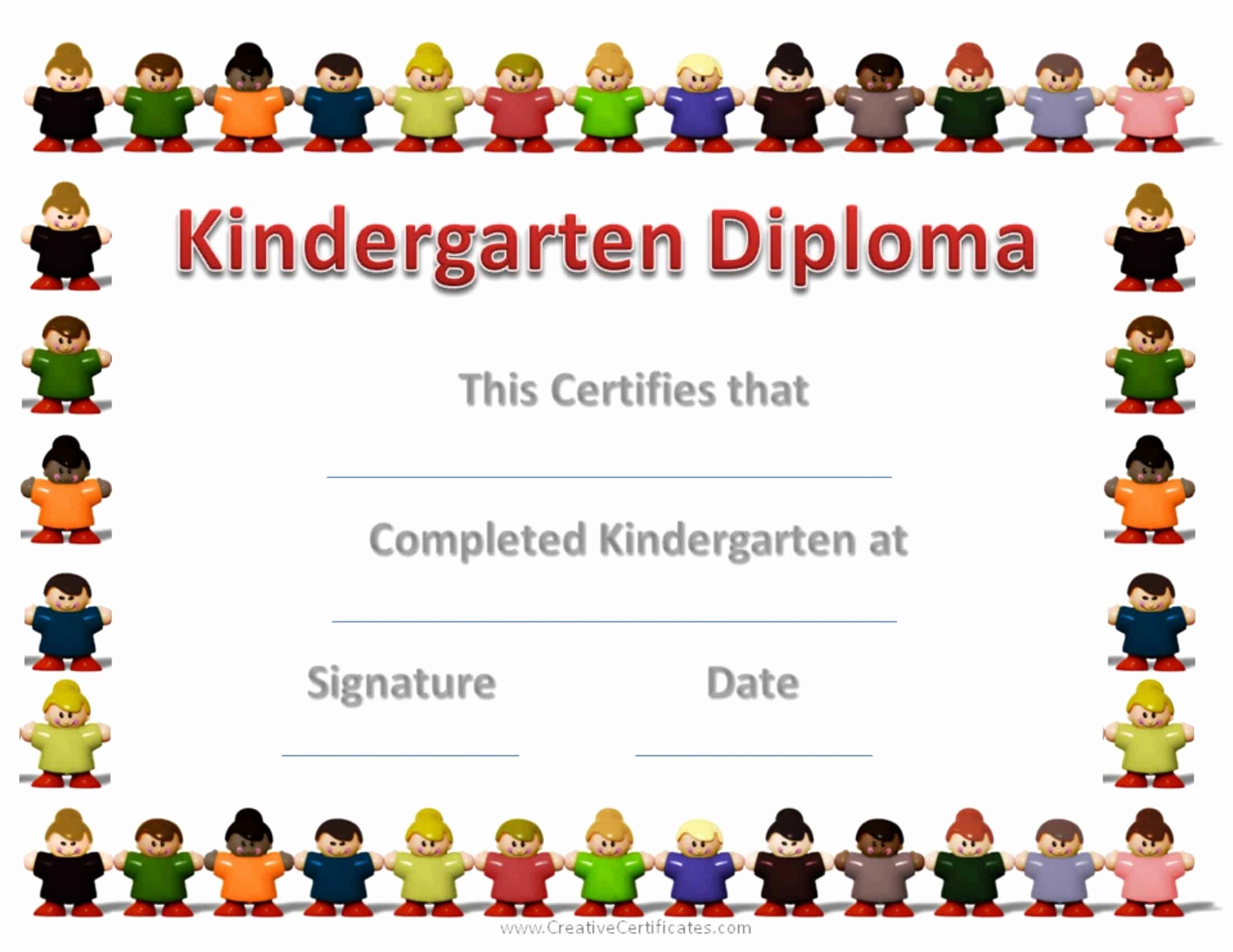 Preschool Graduation Certificate Template Awesome Free Custom Kindergarten Graduation Certificates