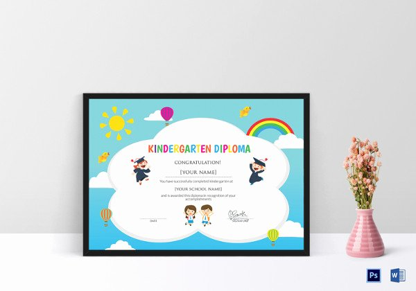 Preschool Graduation Certificate Template Beautiful Preschool Certificate Template 16 Free Word Pdf Psd