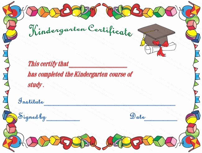 Preschool Graduation Certificate Template Best Of Hats Off Kindergarten Diploma Certificate Template