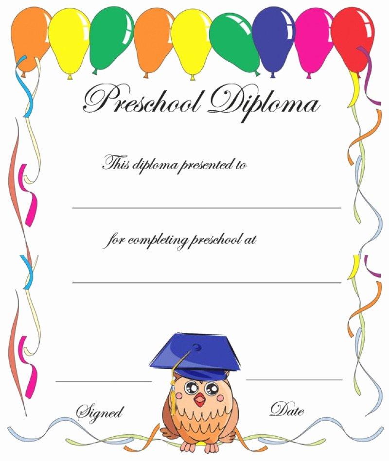 Preschool Graduation Certificate Template Elegant 11 Preschool Certificate Templates Pdf