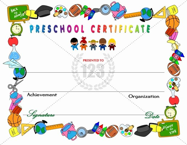 Preschool Graduation Certificate Template Elegant Amazing Preschool Certificates for Your Kids