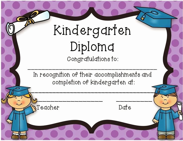 Preschool Graduation Certificate Template Fresh 35 Best Images About Kid Diploma Certificate Template On