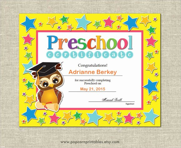 Preschool Graduation Certificate Template Fresh Graduation Certificate Template 9 Premium and Free