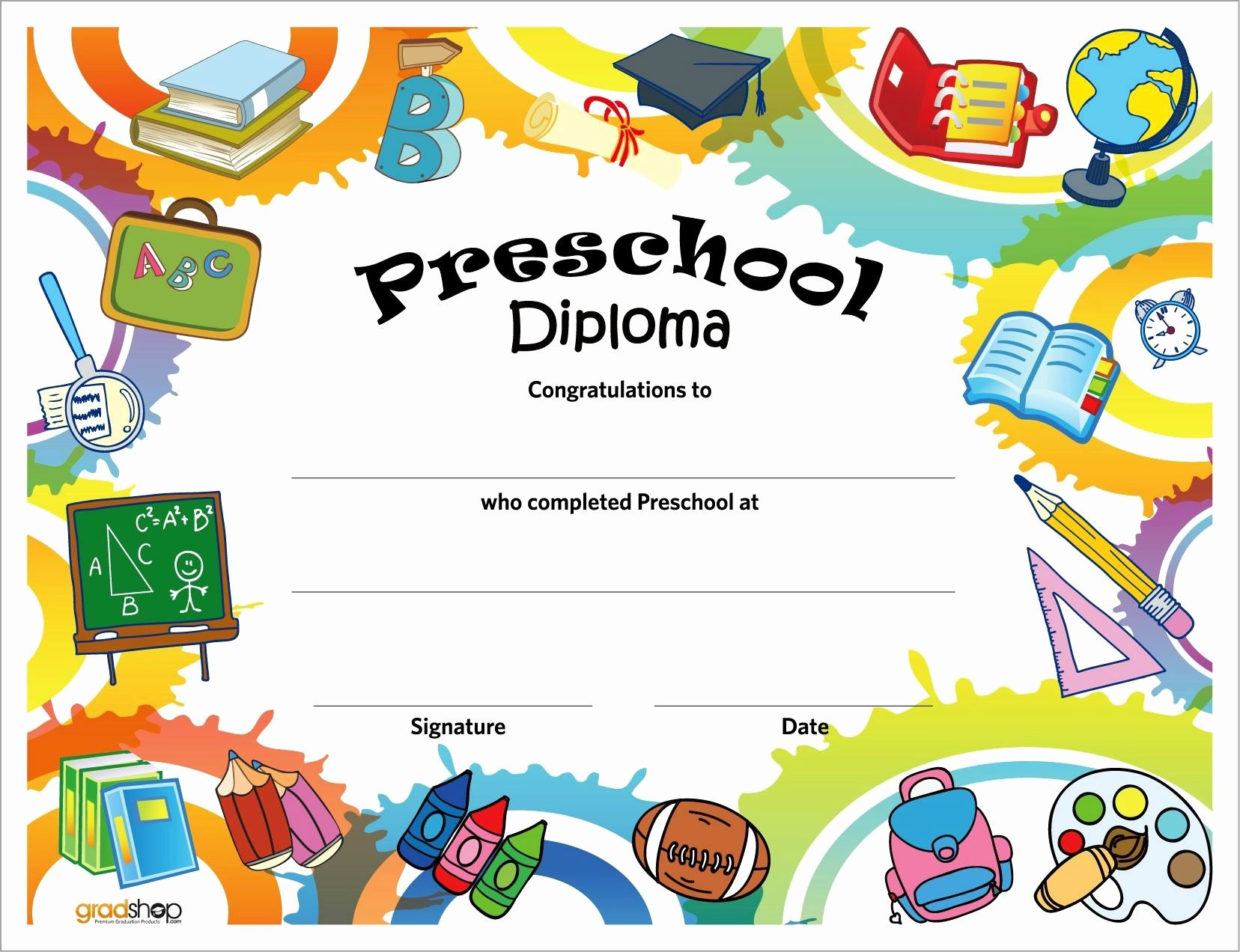 Preschool Graduation Certificate Template Inspirational 11 Preschool Certificate Templates Pdf