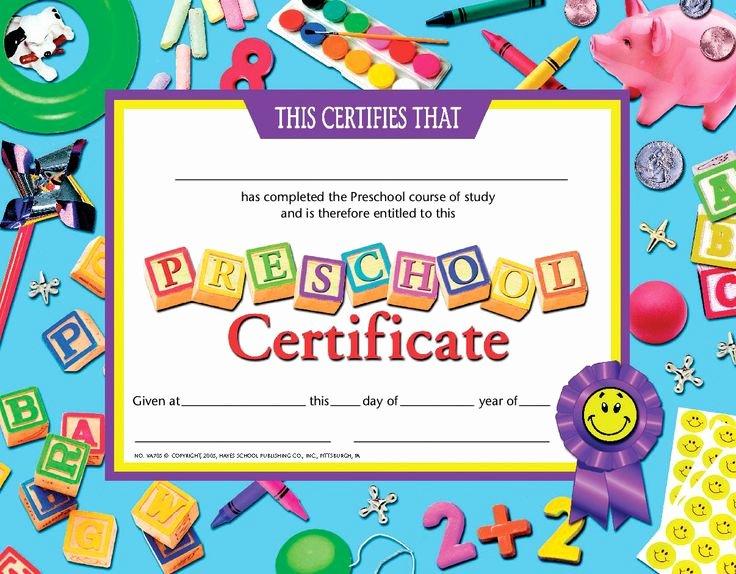Preschool Graduation Certificate Template Inspirational Certificate Schule Und Zeugnisse Pinterest