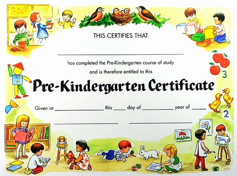 Preschool Graduation Certificate Template Luxury Kindergarten Graduation Certificates Paperpopsicles