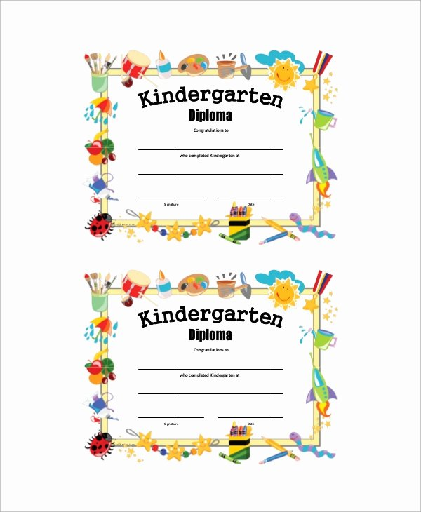 Preschool Graduation Certificate Template Unique 7 Sample Graduation Certificates